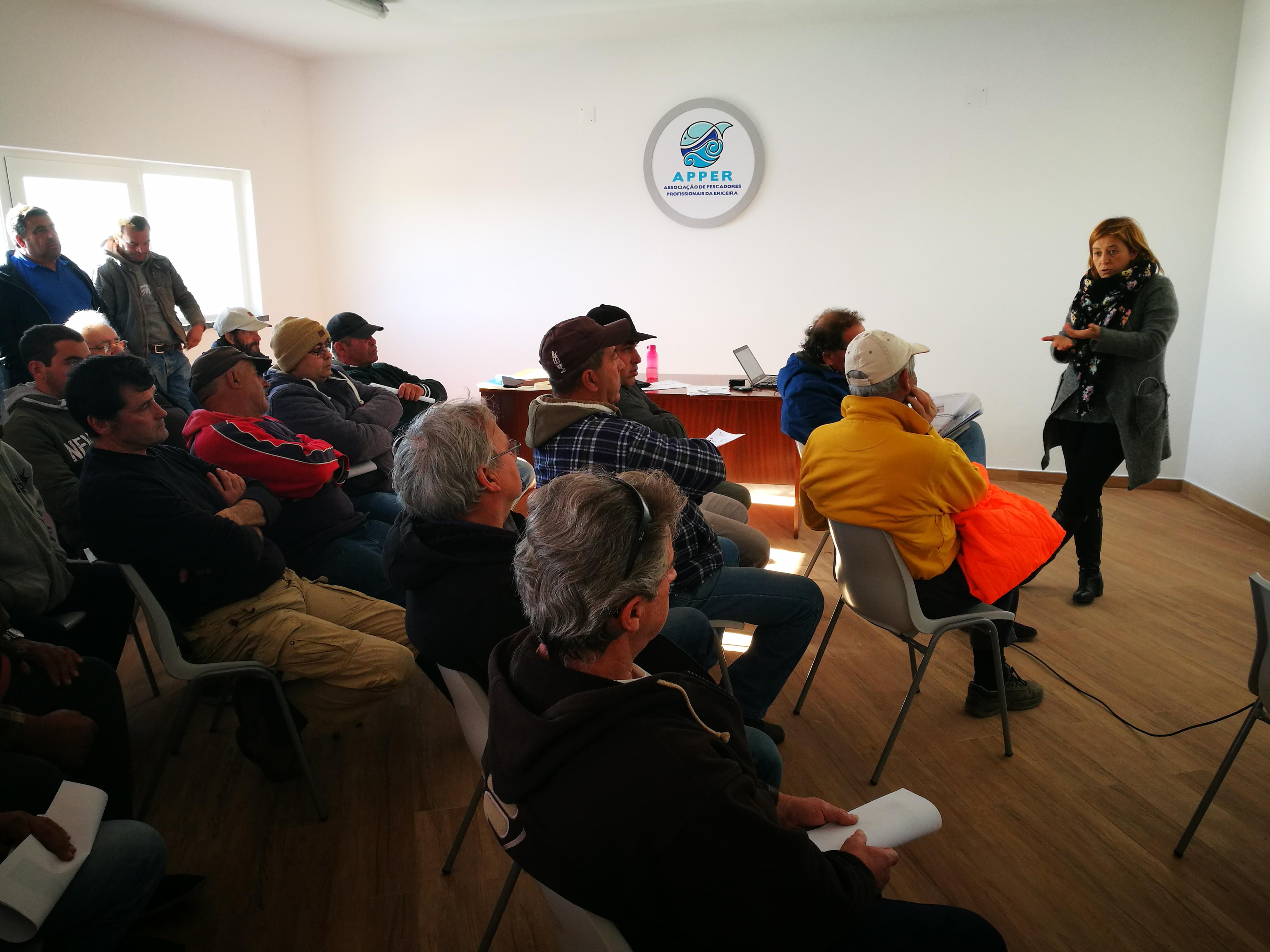 A2S divulga oportunidades de financiamento junto dos pescadores da Ericeira