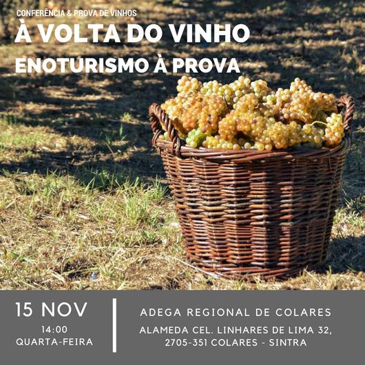 """Conferência """"À Volta Do Vinho: Enoturismo à Prova!"""""""